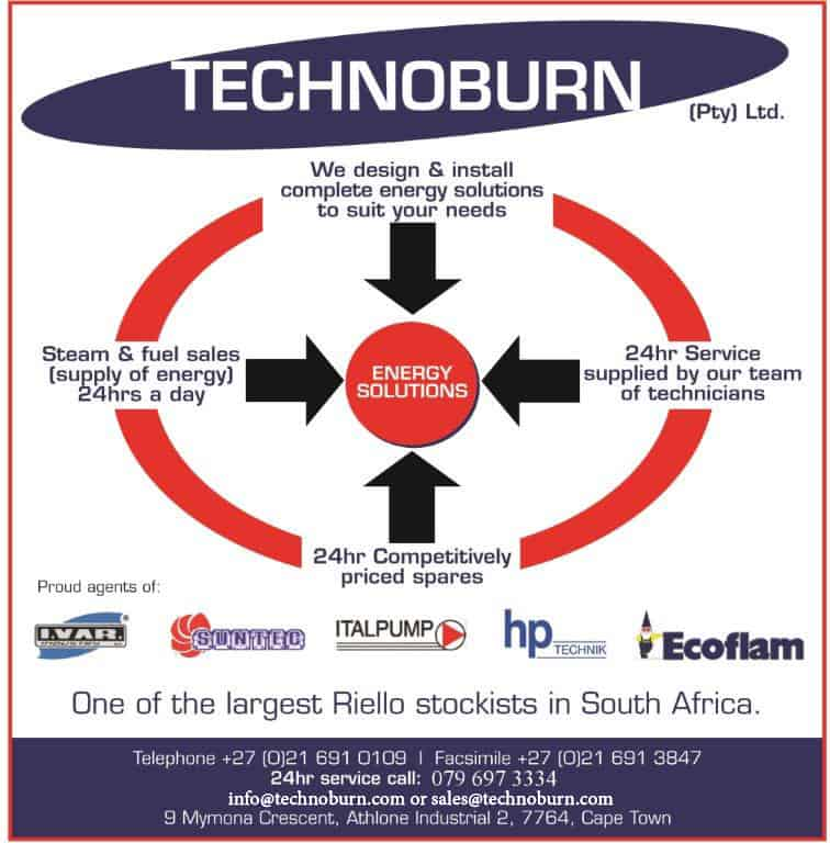 Technoburn - One of the largest Riello stockists in South Africa